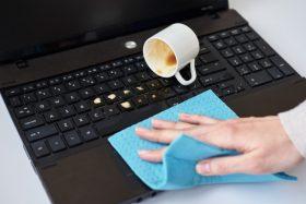 liquid spillage on laptops